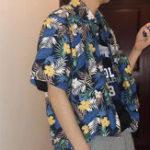 New Mens Summer Hawaiian Holiday Beach Printing Shirts