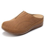 New LOSTISY Pure Color Casual Platform Wedge Sandals
