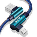 New Olaf 2.4A Micro USB Fast Charging Denim Braided Data Cable For Xiaomi Redmi HUAWEI Honor Android Phone
