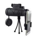New IPRee® 50×60 Monocular HD Optic BAK4 Day Night Vision LED Laser Light Telescope + Tripod + Phone Holder
