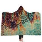 New 150x200CM Wearable Hooded Blankets Adults Kid Warm Winter Throw Multifunctional Blankets