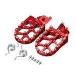New Billet CNC Wide Foot Pegs Pedals Rests For Honda CR125 CR250 CRF250R/X CRF450R/X
