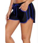 New 3XL Black Swimming Trunks For Women