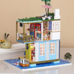 New iiE CREATE DIY Doll House K-038 Sea Post Station Miniature Furnish With Cover Music Movement Gift Decor Toys