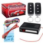 New Universal Vehicle Central Locking Kit & Car Alarm System with Immobiliser Shock Sensor