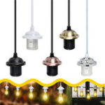 New E26/E27 Edison Vintage Retro Pendant Lamp Holder Ceiling Light Base Socket Bulb Adapter AC110-250V