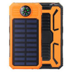 New Solar Chargers 8000mAh USB Solar Battery Charger Phone Charger Power Bank with Flashlight