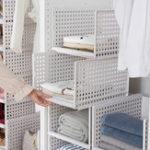 New Multi-function Storage Box Drawer Type Wardrobe Layering Shelf Kitchen Organization Baskets