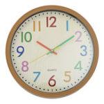 New Silent Non-Ticking Quartz Kid Wall Clock Decorative Indoor Quartz Analogue Clock