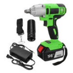 New 198VF 19800mAh Electric Cordless Impact Wrench LED Lighting Screwdriver Drill Torque Repair Tool