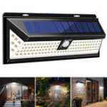 New 1200LM 120 LED 3 Modes Solar Power PIR Motion Sensor Wall Light Outdoor Waterproof IP65