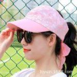 New Women Thin Anti-UV Ponytail Empty Top Baseball Hat