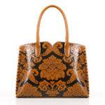 New Women Faux Leather Vintage Embossed Ethnic Style Handbag