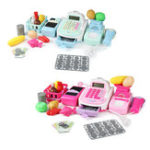 New Supermarket Till Kids Cash Register Toys Gift Set Child Girl Shop Role Play Gifts