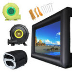 New 110V/220V Large Inflatable Cinema Movie Screen Outdoor Projection 16:9 Square w/ Blower