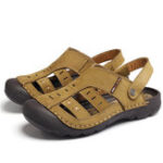 New Men Genuine Leather Soft Beach Sandals