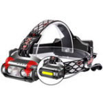 New XANES X-963 850LM 3*T6+COB 8 Modes Waterproof Headlamp White Green Red LED Light Flood Light Battery Indicator 2*18650 Battery USB Interface