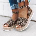 New Large Size Women Casual Adjustable Buckle Platform Sandals