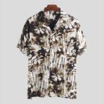 New Mens Summer Floral Printing Casual Loose Fashion Shirts