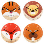 New 28cm Animal Mute Round Wall Clock Modern Home Living Room Kitchen Watch Decor