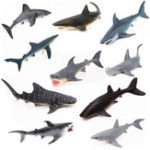 New Realistic Ocean Animal Model Marine Animal Solid Whale Shark Series Science Education Puzzle Toys