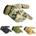 New Three Soldiers Outdoor Tactical Glove Full Finger Tactical Gloves Slip Resistant Gloves For Cycling Camping Hunting-M L XL