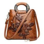 New Women Vintage Ethnic Style Embossed Handbag