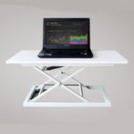 New COMNENIR T10 Adjustable Height Sit Stand Desk Simple Modern Office Desk Riser Foldable Laptop Desk Notebook Stand
