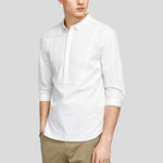 New Mens Simple Stylish Solid Color Half Sleeve Shirts