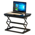 New W50 Sit Stand Foldable Laptop Desk Adjustable Height Desk Foldable Office Desk Simple Modern Desk Stand 4-Position Height Adjustment
