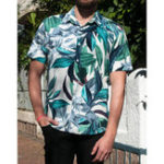New Mens Hawaiian Printed Short Sleeve Summer Casual Loose Shirt