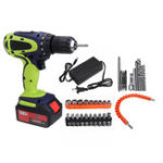 New 108VF 12800mAh Dual Speed Cordless Drill Multifunctional High Power Household Electric Drills W/ Accessories