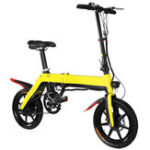 New LOOKIS A5 14 Inches Folding Electric Bike 350W Brushless Motor 10.4AH Lithium Battery 25km/h Moped Bicycle Max Load 120kg
