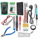 New 110V/220V 60W Electric Adjustable Temperature Solder Iron Multimeter Plier Tools Kit