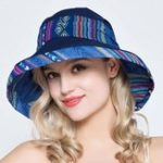 New Women Travel Vacation Fame style Sun Protection Bucket Hat