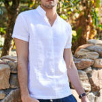 New Mens Summer Simple Tees Solid Color Plain Casual Shirts