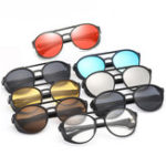 New KCASA Fashion Men Women Punk Retro Round Sunglasses