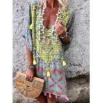 New Floral Tassel Bohemian Dress