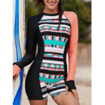 New Sun Protection Surf Suit Covered Belly Swimwear