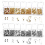 New 340Pcs Jewelry Findings Starter Kit Beading Making and Repair Tools Kit Replacement Accessories