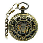 New JIJIA JX001 Big Spider Mechanical Watch Pocket Watch