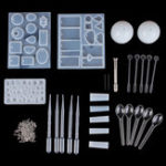 New 77PCS DIY Bracelet Pendant Epoxy Mold Set Jewelry Pendant Mould Craft