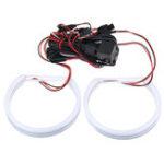 New 4x131mm Cotton Light LED Angel Eyes Lights Halo Ring For BMW E36 E38 E39 E46 3-Series