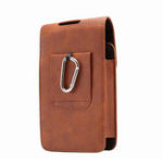 New Men PU Leather Solid 6.3 Inch Phone Purse Casual Waist Bag