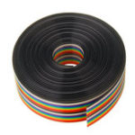 New 3pcs 5M 1.27mm Pitch Ribbon Cable 20P Flat Color Rainbow Ribbon Cable Wire Rainbow Cable