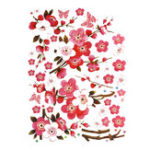 New Large Cherry Blossom Flower Butterfly Tree Wall Sticker Art Decal Home Decor