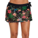 New Black Printed Lace Dress Casual Beach Swimming Trunks