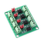 New 817 Optocoupler 4 Channel Voltage Isolation Board Voltage Control Switching Module Optical Isolation Module