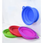 New Portable Collapsible Silicone Pet Bowl Food Water Feeding Foldable Bowl