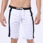 New WANGJIANG Men's Polyester Sweatpants Summer Shorts Casual Beach Fitness Shorts